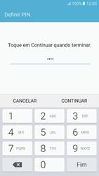 Samsung Galaxy S6 Android M - Segurança - Como ativar o código de bloqueio do ecrã -  8