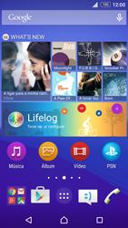 Sony Xperia Z3 Plus - Aplicações - Como configurar o WhatsApp -  1