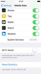 Apple iPhone 5s iOS 9 - Internet - Disable WiFi Assist - Step 6