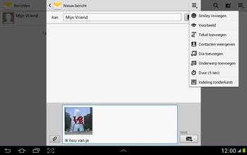 Samsung N8000 Galaxy Note 10-1 - MMS - afbeeldingen verzenden - Stap 14