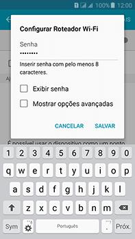 Samsung Galaxy J7 - Wi-Fi - Como usar seu aparelho como um roteador de rede wi-fi - Etapa 9