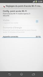 Sony Xpéria Z1 - Internet et connexion - Partager votre connexion en Wi-Fi - Étape 7