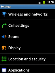 Samsung S5360 Galaxy Y - Internet - Enable or disable - Step 4