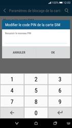 HTC Desire 626 - Sécuriser votre mobile - Personnaliser le code PIN de votre carte SIM - Étape 9