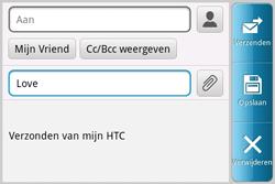 HTC A810e ChaCha - E-mail - E-mails verzenden - Stap 7