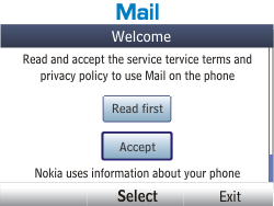 Nokia Asha 201 - E-mail - Manual configuration - Step 4