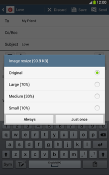 Samsung T315 Galaxy Tab 3 8-0 LTE - Email - Sending an email message - Step 16