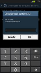 Samsung Galaxy S3 - Segurança - Como ativar o código PIN do cartão de telemóvel -  8