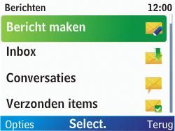 Nokia C3-00 - MMS - afbeeldingen verzenden - Stap 3