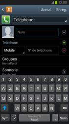 Samsung Galaxy Note 2 - Contact, Appels, SMS/MMS - Ajouter un contact - Étape 5