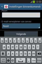 Samsung S6810P Galaxy Fame - E-mail - e-mail instellen: POP3 - Stap 10