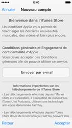 Apple iPhone 5s - Applications - Créer un compte - Étape 10