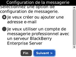 BlackBerry 8520 - E-mails - Ajouter ou modifier un compte e-mail - Étape 6