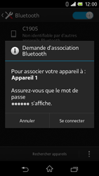 Sony C1905 Xperia M - Bluetooth - connexion Bluetooth - Étape 9