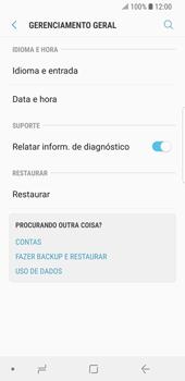 Samsung Galaxy S9 - Funções básicas - Como restaurar as configurações originais do seu aparelho - Etapa 7