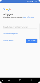 Samsung Galaxy S9 - Applicaties - Account instellen - Stap 4