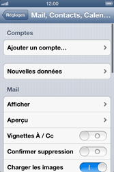 Apple iPhone 4 S - E-mail - Configuration manuelle - Étape 5
