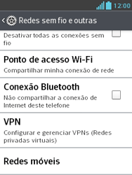 LG E430 Optimus L3 II - Rede móvel - Como ativar e desativar uma rede de dados - Etapa 5