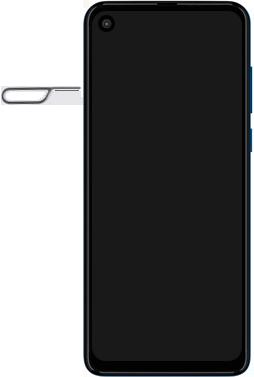 Motorola One Vision - Primeiros passos - Como inserir o chip da Nextel no seu celular - Etapa 2