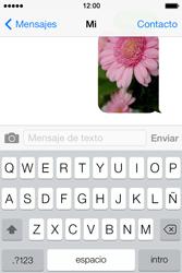 Apple iPhone 4S iOS 7 - Mensajería - Escribir y enviar un mensaje multimedia - Paso 14