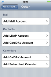 Apple iPhone 3G S - Email - Manual configuration - Step 6
