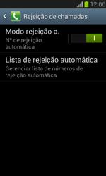 Samsung I8190 Galaxy S III Mini - Chamadas - Como bloquear chamadas de um número específico - Etapa 8