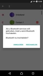 Sony F3111 Xperia XA - Android Nougat - Contactgegevens overzetten - delen via Bluetooth - Stap 10