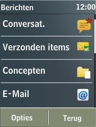 Nokia X3-02 - E-mail - E-mails verzenden - Stap 4