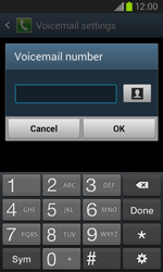 Samsung I8260 Galaxy Core - Voicemail - Manual configuration - Step 8
