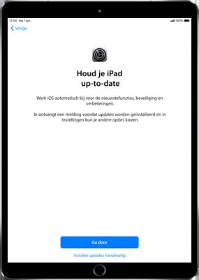 Apple ipad-9-7-inch-6th-generation-model-a1954-ios-12 - Instellingen aanpassen - Activeer het toestel en herstel jouw iCloud-data - Stap 23