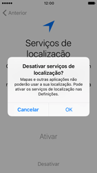 Apple iPhone 5s iOS 10 - Primeiros passos - Como ligar o telemóvel pela primeira vez -  11