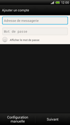 HTC S728e One X Plus - E-mail - Configuration manuelle - Étape 6