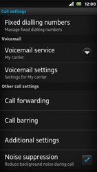Sony ST25i Xperia U - Voicemail - Manual configuration - Step 5
