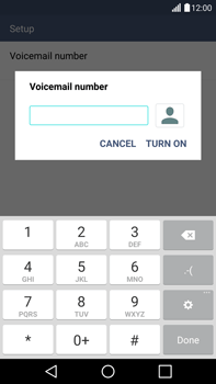 LG H815 G4 - Voicemail - Manual configuration - Step 8
