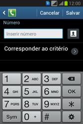 Samsung S6293T Galaxy Young Plus - Chamadas - Como bloquear chamadas de um número específico - Etapa 9