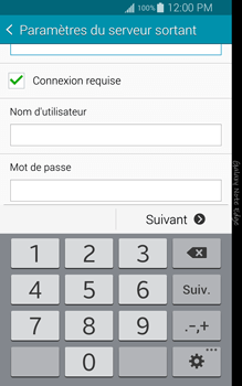 Samsung N915FY Galaxy Note Edge - E-mail - Configuration manuelle - Étape 13