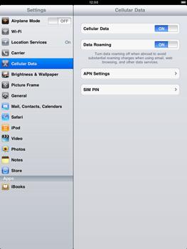 Apple iPad 2 - Internet - Manual configuration - Step 3
