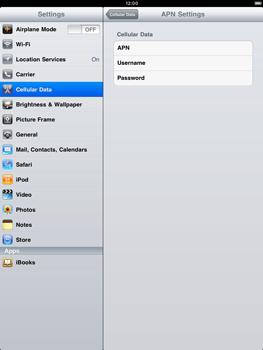Apple iPad 2 - Internet - Manual configuration - Step 4
