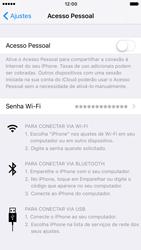 Apple iPhone iOS 10 - Wi-Fi - Como usar seu aparelho como um roteador de rede wi-fi - Etapa 6