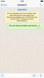 Apple iPhone 6 iOS 9 - WhatsApp - Partager des photos et votre emplacement avec WhatsApp - Étape 14