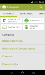 Sony Xperia E1 - Aplicações - Como pesquisar e instalar aplicações -  6