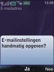 Nokia 6600i slide - E-mail - Handmatig instellen - Stap 13