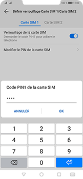 Huawei Mate 20 Pro - Sécurité - modifier SIM PIN - Étape 12