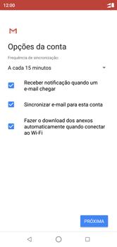 Motorola One - Email - Como configurar seu celular para receber e enviar e-mails - Etapa 10