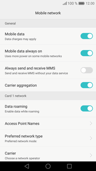 Huawei Mate 8 - Internet - Usage across the border - Step 5