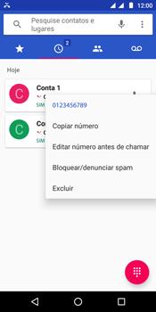 Motorola Moto E5 - Chamadas - Como bloquear chamadas de um número específico - Etapa 5