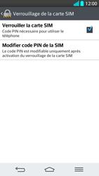 LG G2 - Sécuriser votre mobile - Personnaliser le code PIN de votre carte SIM - Étape 7