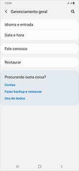Samsung Galaxy A50 - Funções básicas - Como restaurar as configurações originais do seu aparelho - Etapa 5