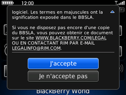 BlackBerry curve 3G - Applications - Télécharger une application - Étape 4