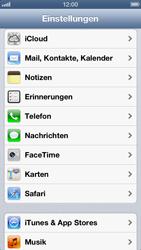 Apple iPhone 5 - Basisfunktionen - SIM-PIN aktivieren und ändern - Schritt 3